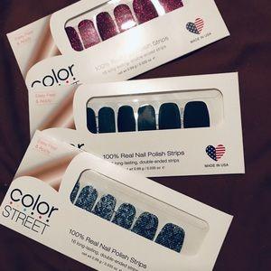 Color Street Nail sets, 3 colors